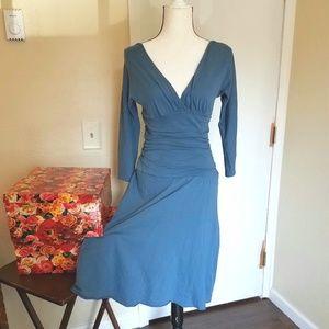 Velvet Cotton Midi Dress